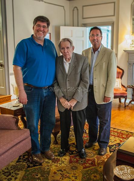 Dr. Mark Walker, Dr. John M. Long and Dr. Graham Owen Jones enjoying an afternoon visit at Dr. Long's home in Troy, Alabama.