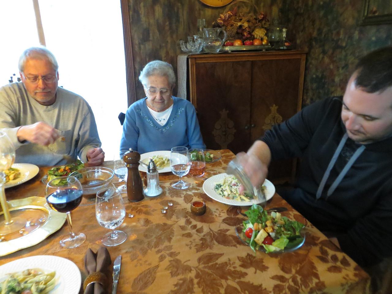George, Grandma Rose and Justin