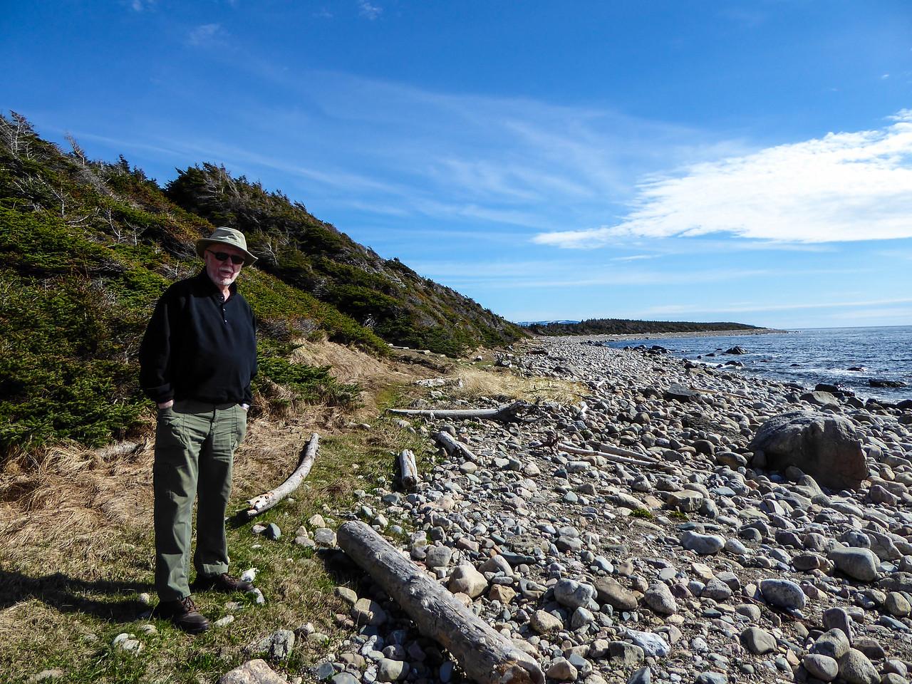Old feller on Green Point Beach