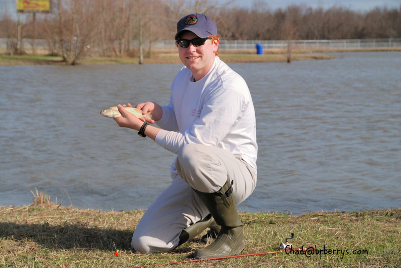 Paul-Michael with a Rainbow Trout at a BREC Lake.