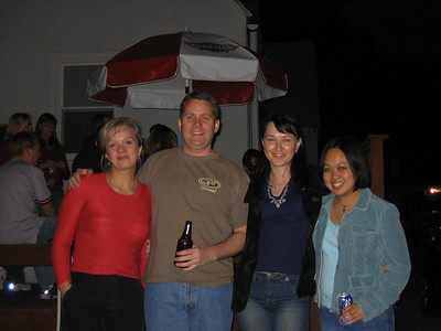Olga, Bryan, Helena and Jackie at Bryan's Half-Way-To-Retirement Party.