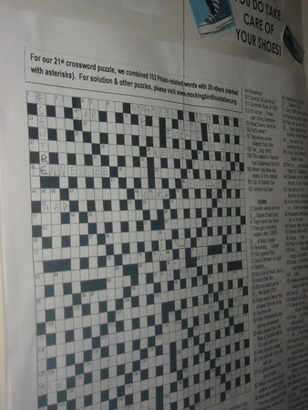 Giant Phish-themed Crossword...  we finished about 95%.