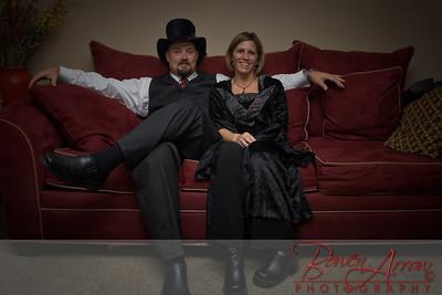 Jen and Scott Stevens dressed for Halloween 2008