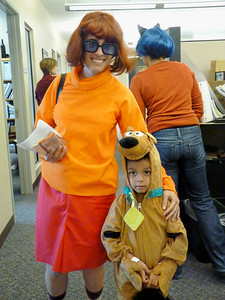 Mary J. and Rey -- Velma and Scooby Doo!