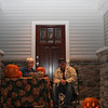 """And here's the """"managers""""of the Trick or Treat surplus...waiting for more customers.  Sometimes we encouraged those on the other side of the street to make a visit."""