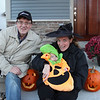 And here's the pumpkin's Granddad dressed up like a photographer. He even has his Canon Live Learning cap on.
