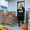 "Back on our decked out pumpkin porch we are ready for the first ""trick or treaters"" of the evening.  In Middleton, ""official"" trick or treat time is 5 PM to 8 PM on Halloween night."