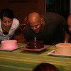 Leleng, Kumar and Bogart blow candles