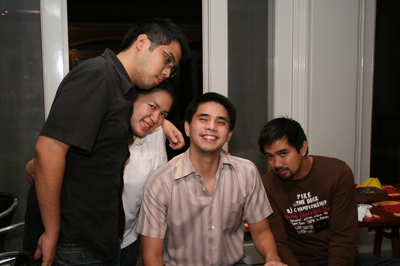 from left: Val, Minda, Jhobert and Tito