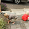 Katie and Harlon playing in the dirt