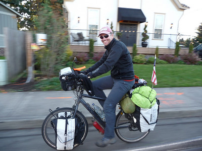 Harry & Ivana cycling -  Nov. 23, 2008