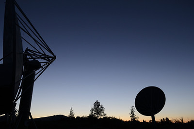 Dusk at the Hat Creek Radio Observatory.