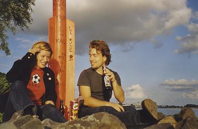 mit Tina am Rhein