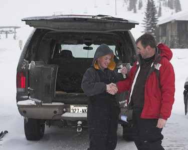 "Getting awarded a Black Diamond pin for his first successful ""most difficult"" run."