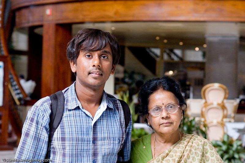 Jayakumar and mom at Union Station