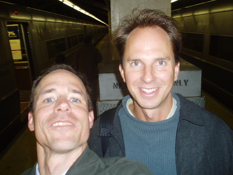 Damon in Grand Central - spring 2004