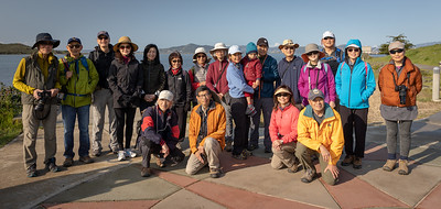 Hiking group, along the Richmond Shoreline