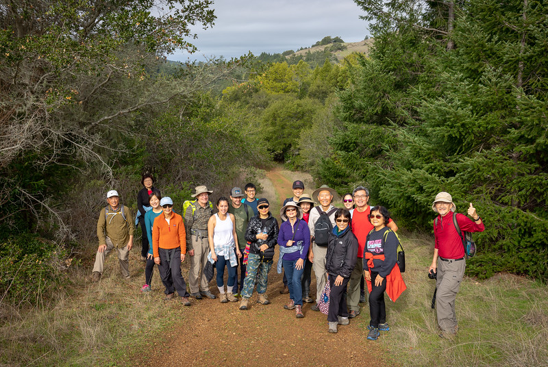 Hiking Group, Family, Neal, Sandy, Nick and Catherine, Salmon sighting, Camp Taylor in Samual Taylor State Park, Lagunitas Creek