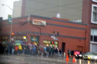 A few people were on their way to see some bowl game at AT&T Park...