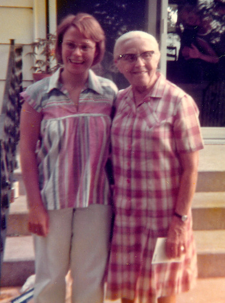 Becky  at age 23 with Grandma Beachy