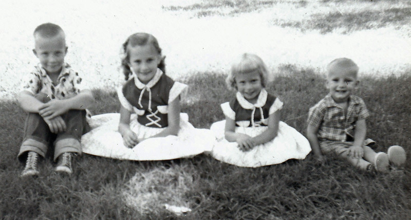 L to R:  Bill, Susan, Becky  (age 4) & Dan  -  1957 ?
