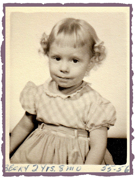 Becky, 2 yrs. 8 months old - early in 1956