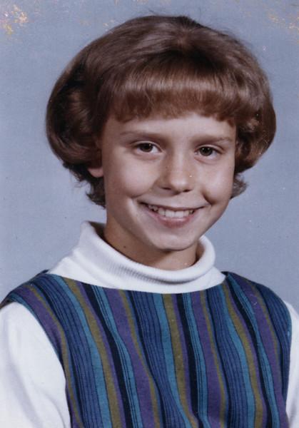 Becky at age 11, 6th grade - 1965