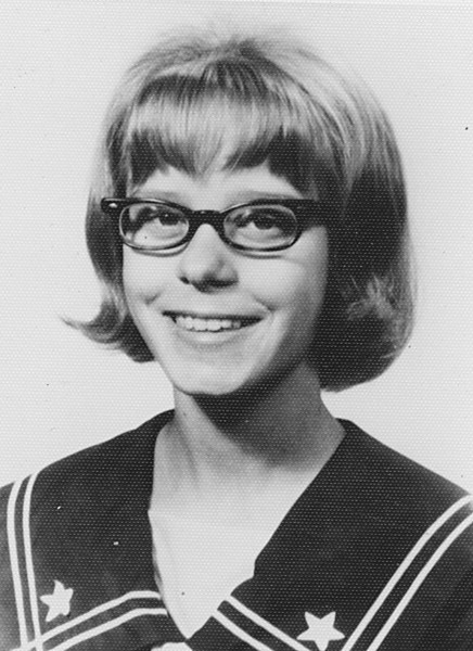 Becky, school photo at age 15?