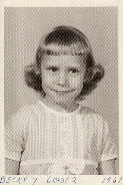 Becky, age 7 in second grade - 1961