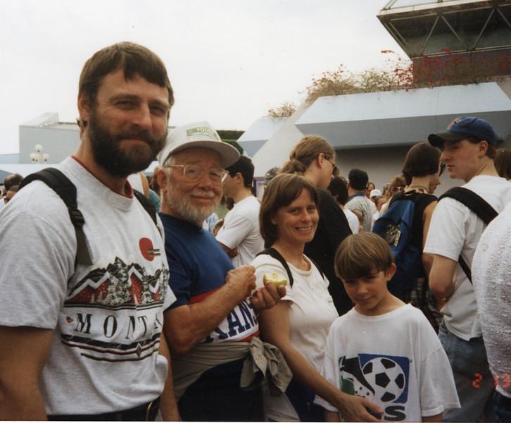 Jon, Vernon (dad), Becky, & Cody