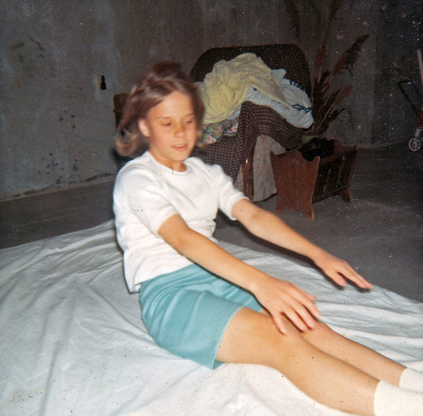 Becky doing sit ups at age 14