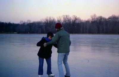 Becky and Jon skating (Nockamixon?)