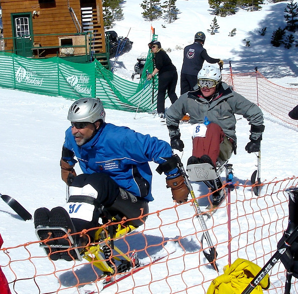 Adaptive Skiers at Finish
