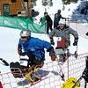 Adaptive Skiers at Finish