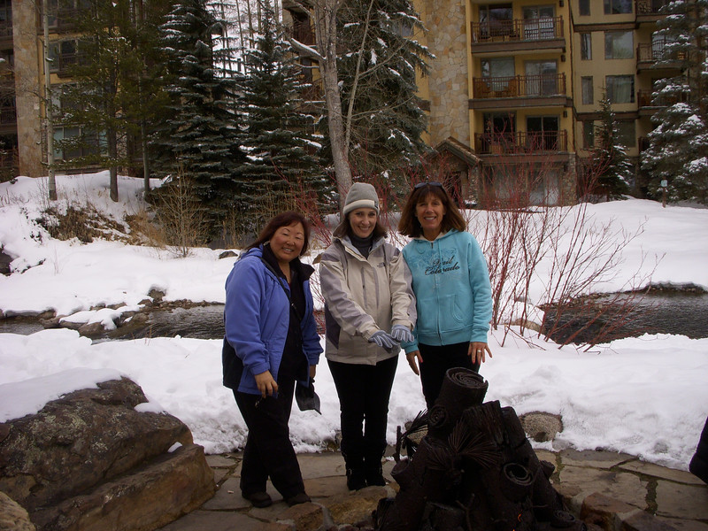 Angie, Jessica, and Denise at Vail