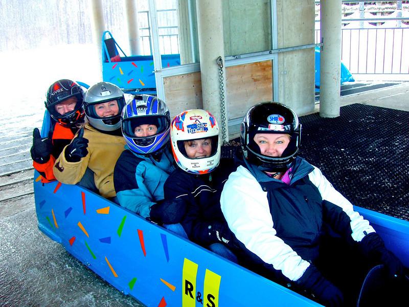 Marie, Lisa B, and Karen on Innsbruck Olympic Bobsled Run