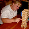 Jenga Master Lisa Making It Look Easy