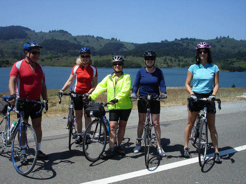 Sunday Bike Ride: Maurice, Pat, Susan, Cathy, Kathy at Crystal Springs