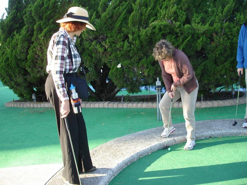 Golf Night: Brenda and Cathy