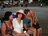 July Potluck at Burton Park: Sara, Brenda, Marge, and Mariann