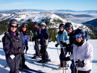 Inskiers at Alpine Meadows