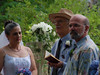 Bill (in hat) hosted the wedding at Creekstone.