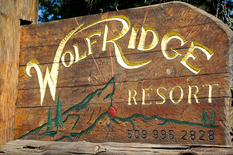 The wedding party stayed at Wolf Ridge Resort.