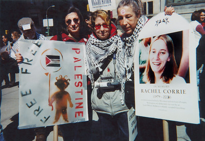 March for Palestinian justice. Manhattan, 2003.