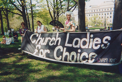Pro Choice march in DC. Ca. 2001. Photo courtesy of Georgia Guida.