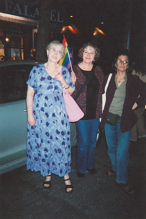 Gay Pride, Brooklyn Jane with Jo Sotheran and Ann White 2004 Photo courtesy of Georgia Guida.