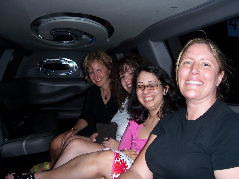 Everyone piles in the big-ass limo, 'cause it is time to roll!