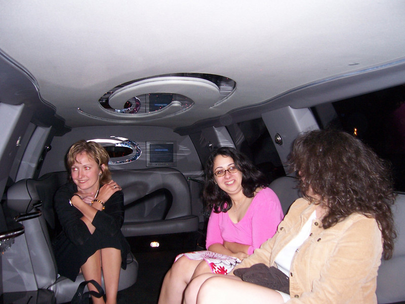 Back in the limo.