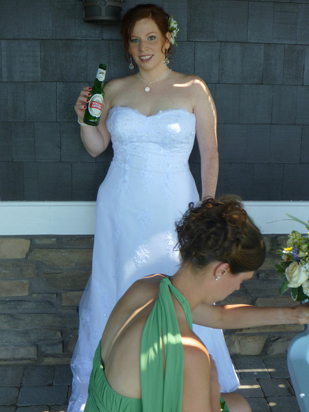 Enjoying a pre-ceremony beverage (love this pic)