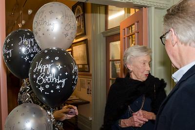 Joan Harvey's 90th birthday party  -25 June 2016 -  Dunedin Railway Station - Otago Art Society Rooms
